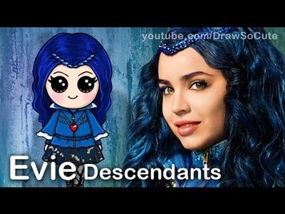 How to Draw Evie from Disney Descendants Cute step by step