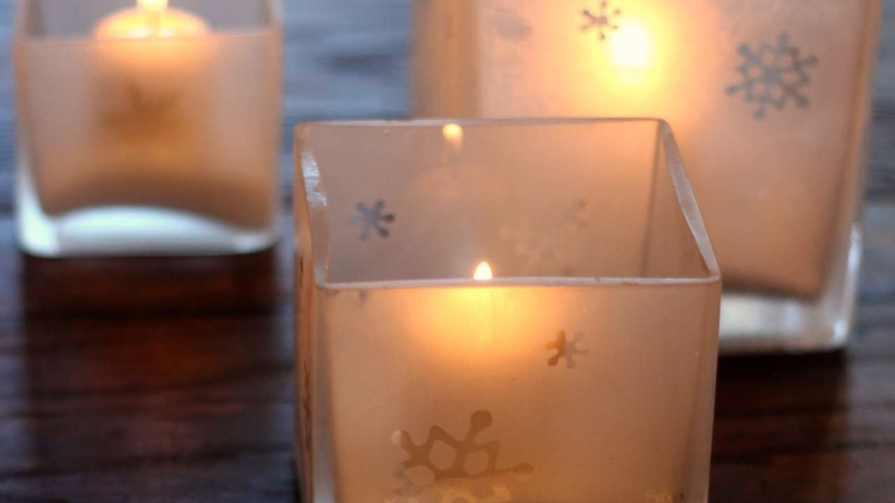How To Etch Your Own Glass Candle Holders - DIY Home Tutorial - Guidecentral