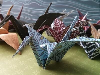 How to Fold an Origami Crane & Write Crane (tsuru) in Japanese Hiragana and Kanji (difficulty 5.10)