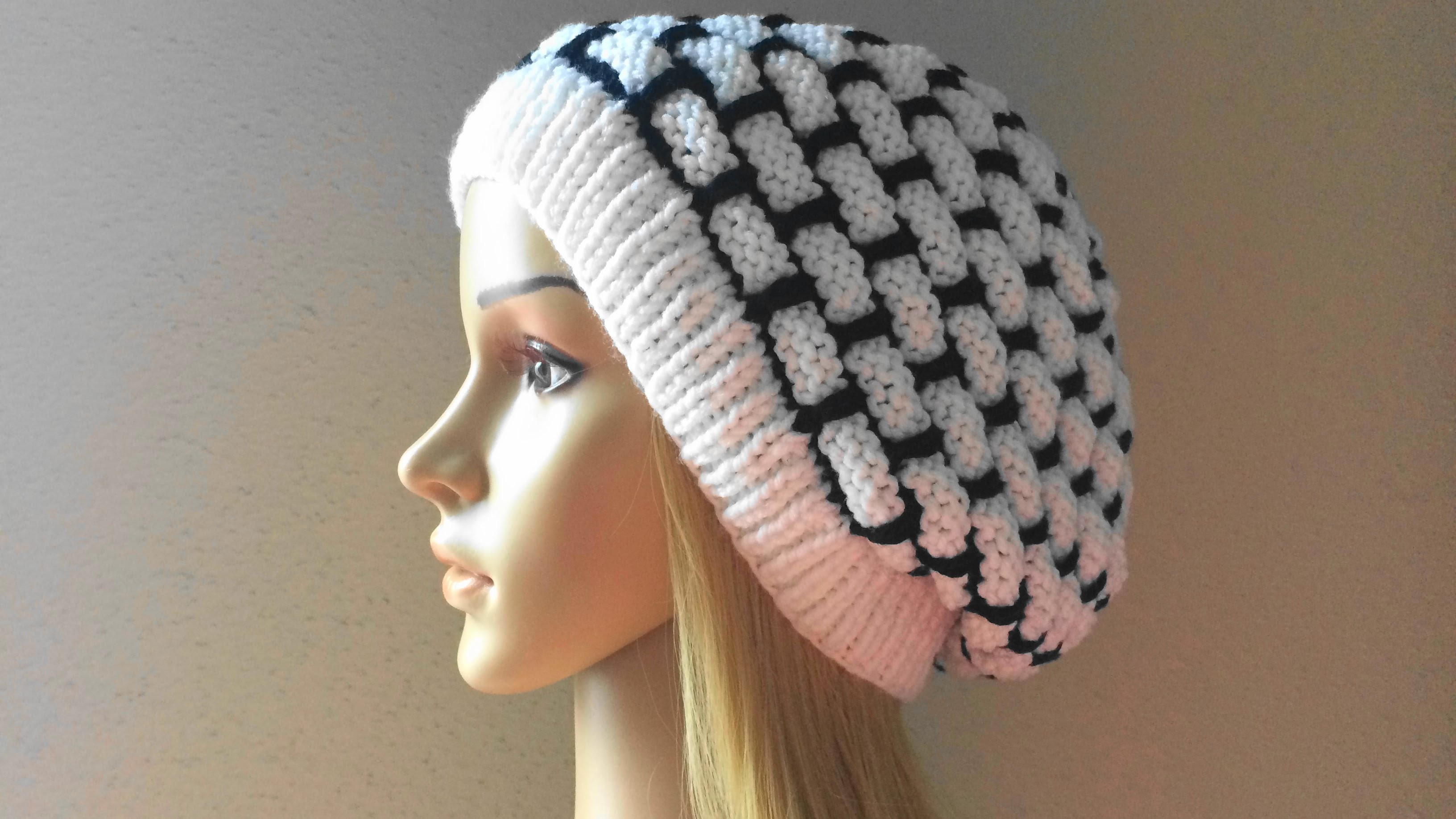How To Knit A Wall Brick Hat, Lilu's Knitting Corner Video # 24