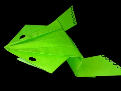 How to make a paper Frog-Origami Tutorial