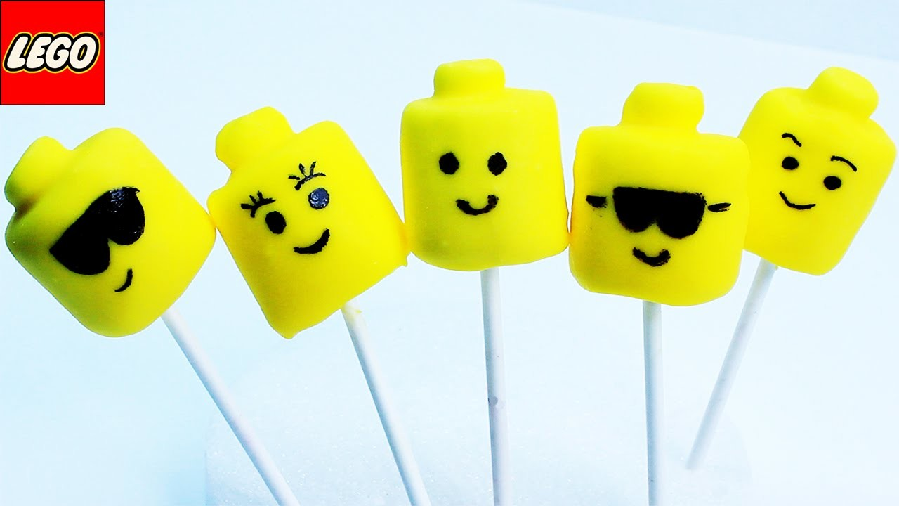 HOW TO MAKE LEGO MARSHMALLOW POPS EASY TUTORIAL