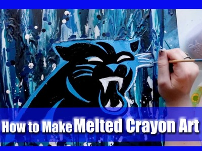 How to Make MELTED CRAYON ART (a fun DIY, PINTEREST Project)- @dramaticparrot