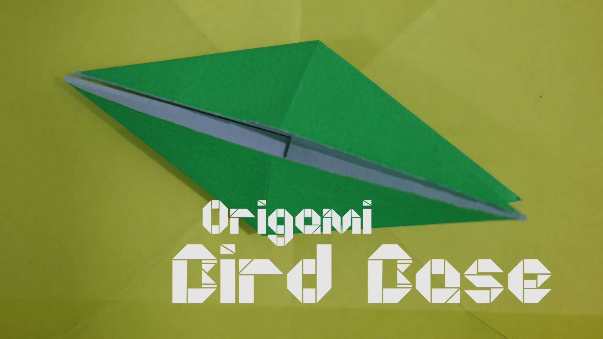 How to make Origami Birdbase - By Origami Artists