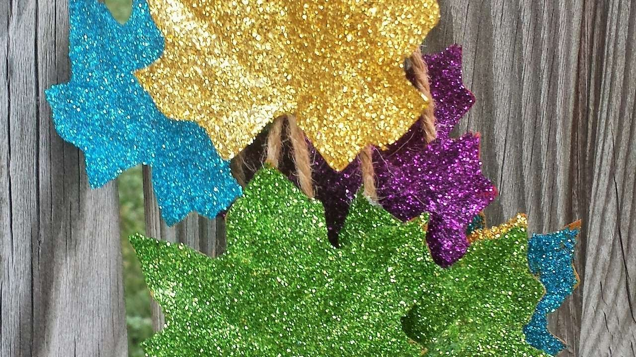 How To Make Sparkly Glittered Leaves - DIY Crafts Tutorial - Guidecentral