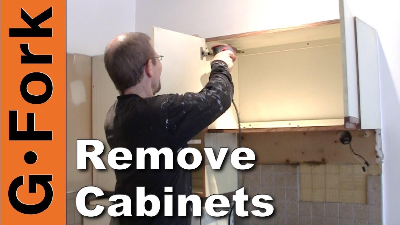 How To Remove Kitchen Cabinets - updated - GardenFork.TV