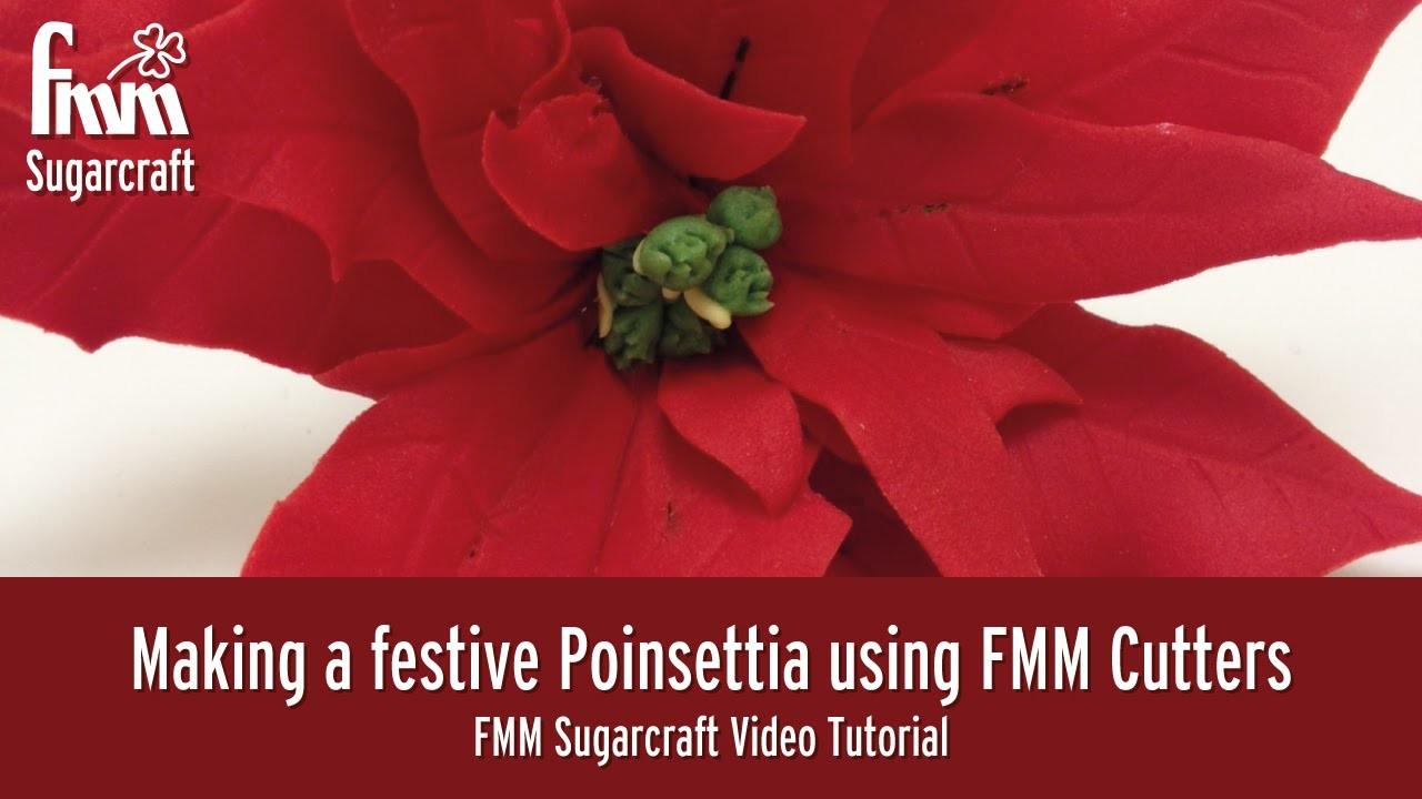 Making a festive Poinsettia using FMM Cutters I Carol Haycox
