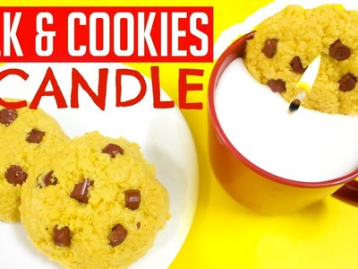 Milk & Cookies Candle DIY | How to Make Candles out of Crayons | Easy Christmas Gifts