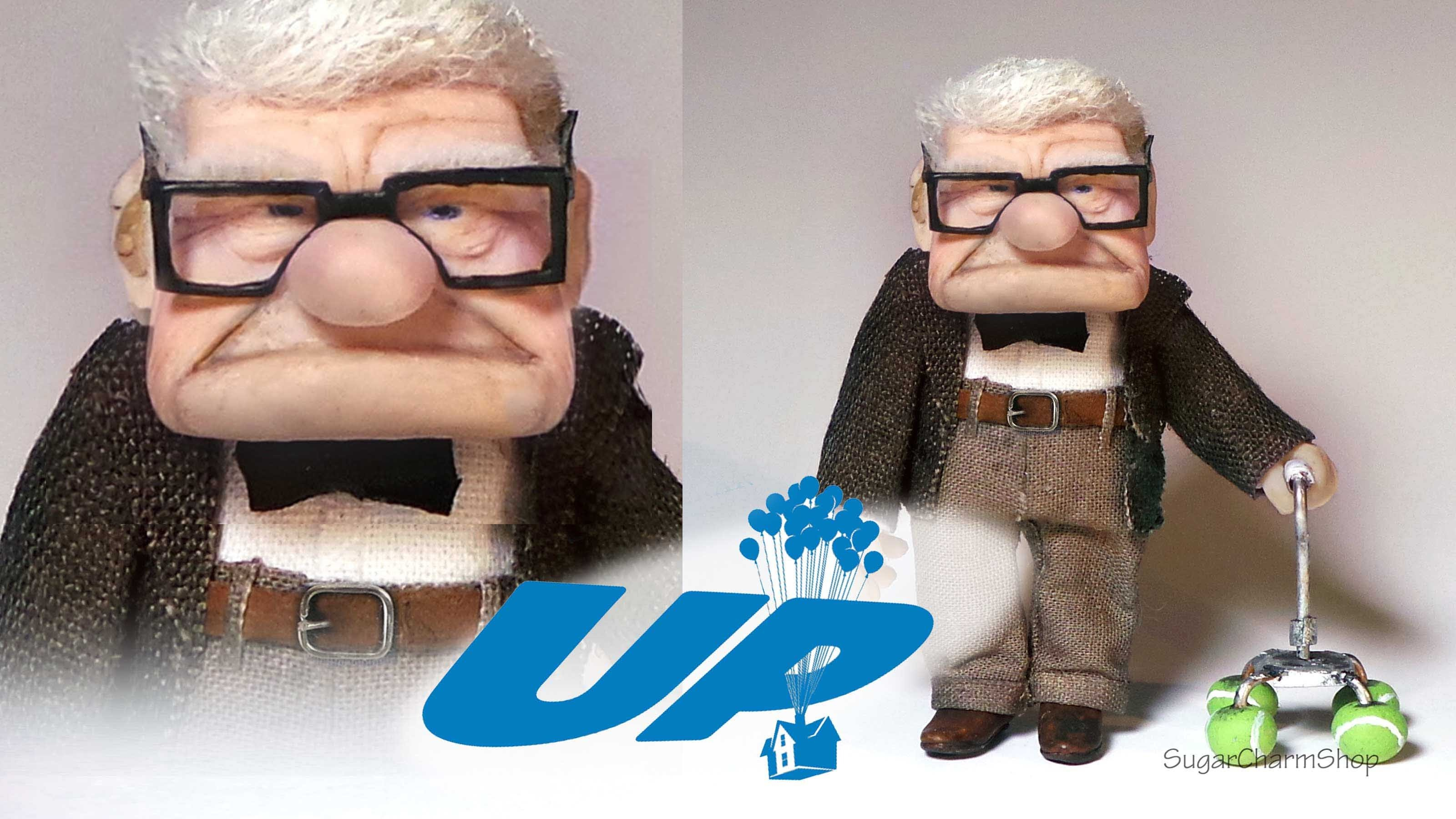 Mr. Carl Fredricksen Inspired Doll - Polymer Clay Tutorial (Disney's UP)