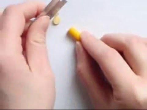 Orange Lemon Lime Cane - Polymer Clay