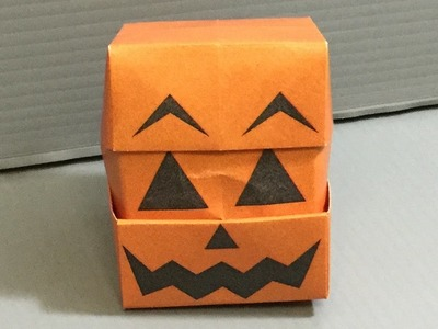 Origami Changing Faces Jack-O'-Lantern Cube