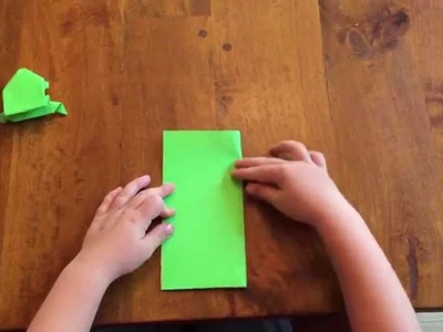 Origami Frog Tutorial (by a 5 year old)