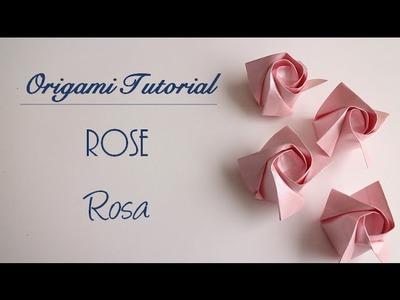 Origami Tutorial: Rose | Rosa