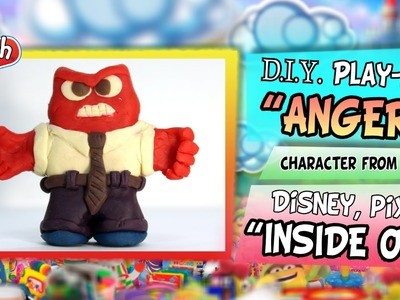 """Play-Doh """"ANGER"""" from Disney Pixar """"INSIDE OUT"""", DIY figure handmade with modeling clay"""