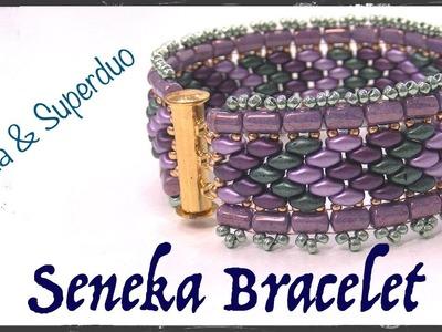 Seneka Bracelet with Rulla and Superduo