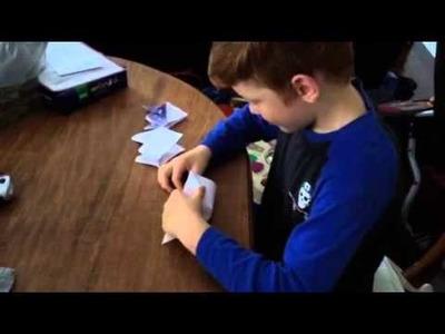 Simple origami Batman mask