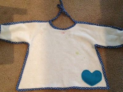 Tutorial: Bib with sleeves ( sewing ) pinterest inspired