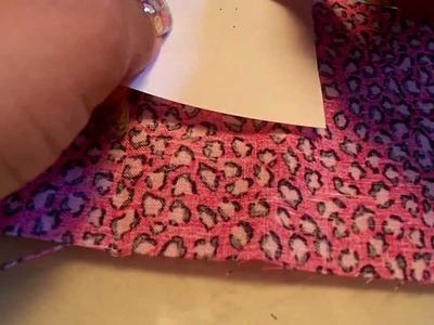 TUTORIAL. como hacer nail art stickers con telas y papel. .