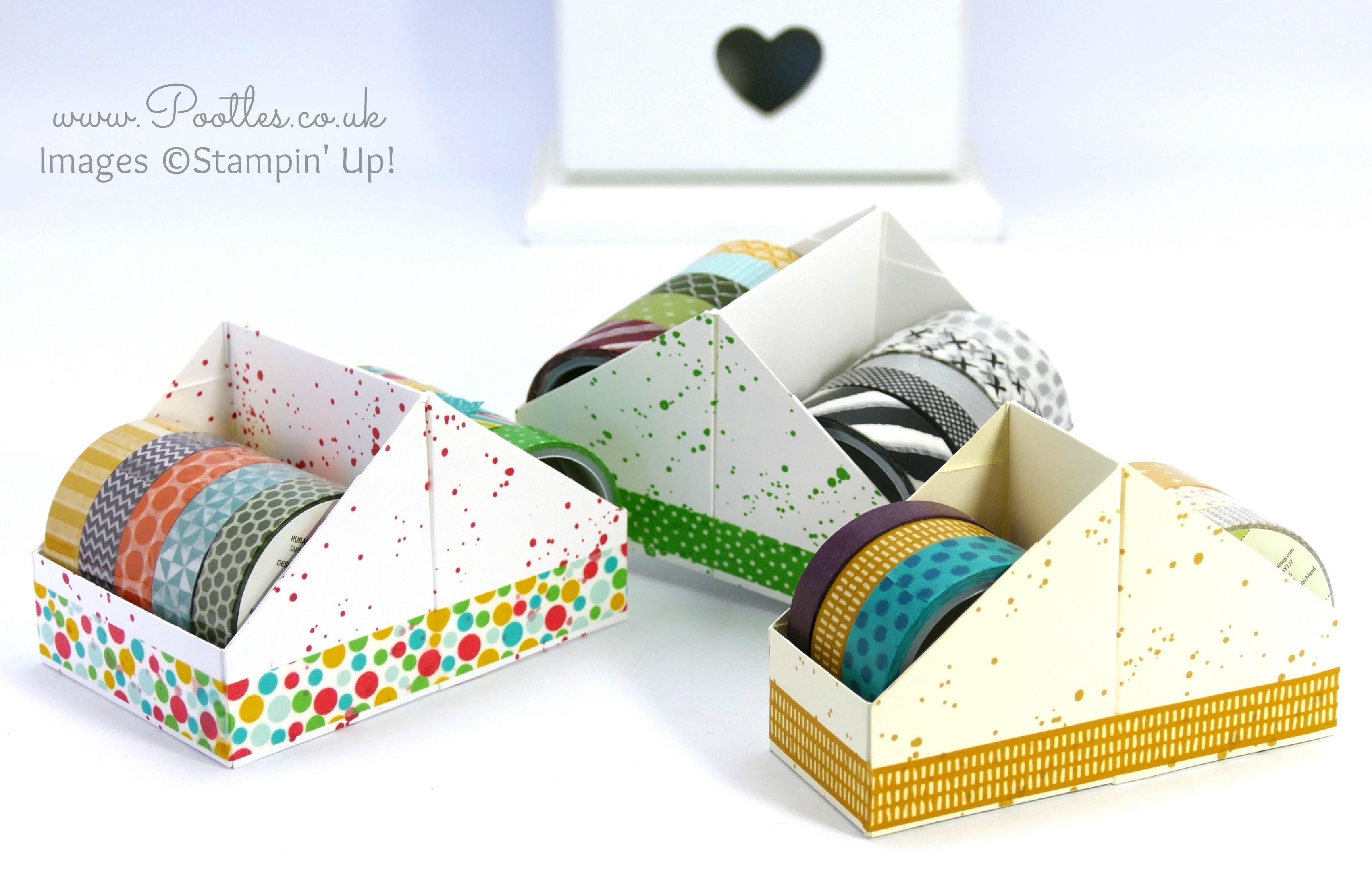 Washi Tape Holder Tutorial using Stampin' Up! Supplies