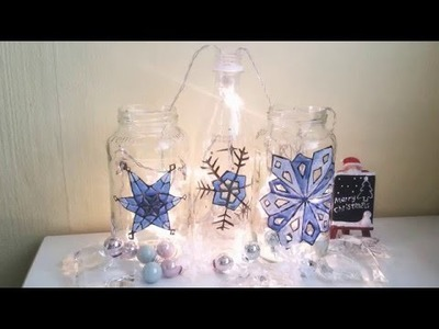 2-5 Christmas DIY - Easy Stained Glass Effect Lights With Recycled Jar