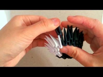 3D origami badtzmaru part 1