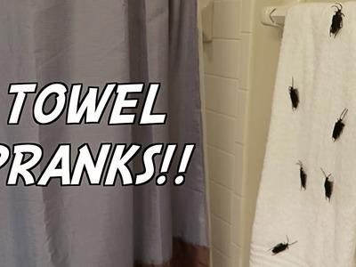 5 TOWEL PRANKS - HOW TO PRANK