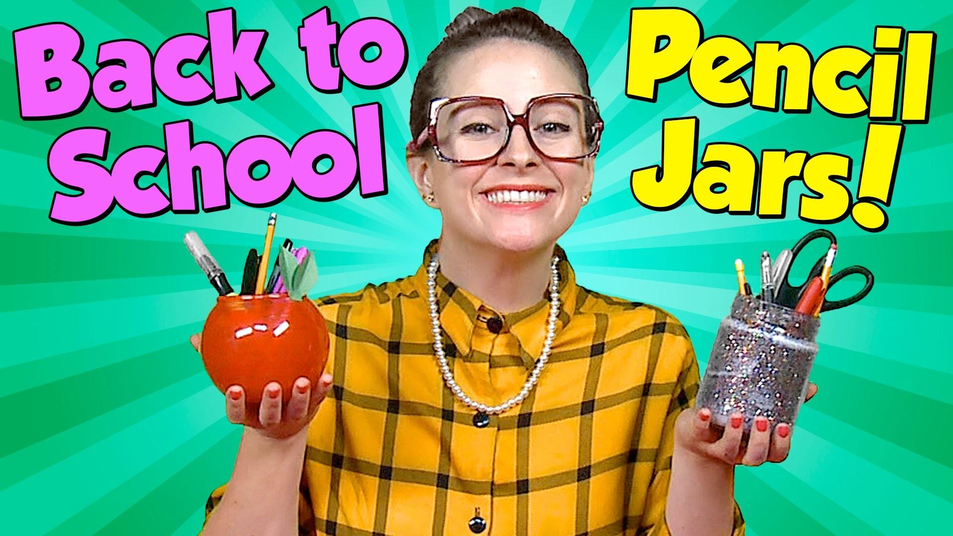 Apple & Glitter Pencil Jars - Teacher Gifts - Back to School | Cool School Crafts with Crafty Carol