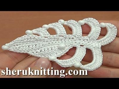 Crochet  Asymmetrical Double Sided Flat Leaf Tutorial 35