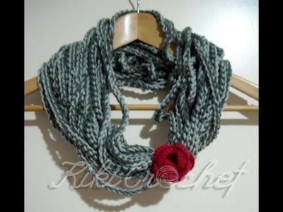 Crochet Rope Scarf (English Tutorial)