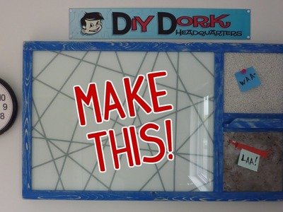 DIY $12 Dollar Upcycled Message Center (Using Thrift Store Items)