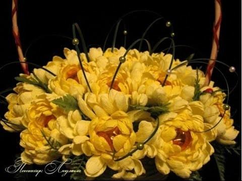 DIY Chocolate Chrysanthemum Flower Bouquet - Tutorial .