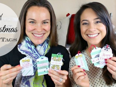 DIY Christmas Gift Tags! w. Kari!. Justine Marie