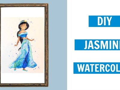DIY Disney Decor: Jasmine from Aladdin | Watercolor Tutorial