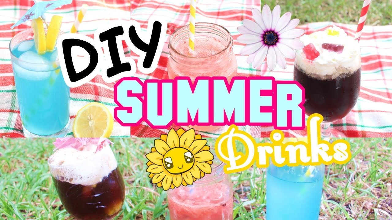 DIY Easy Summer Drinks Ideas! | DIYwithKIM