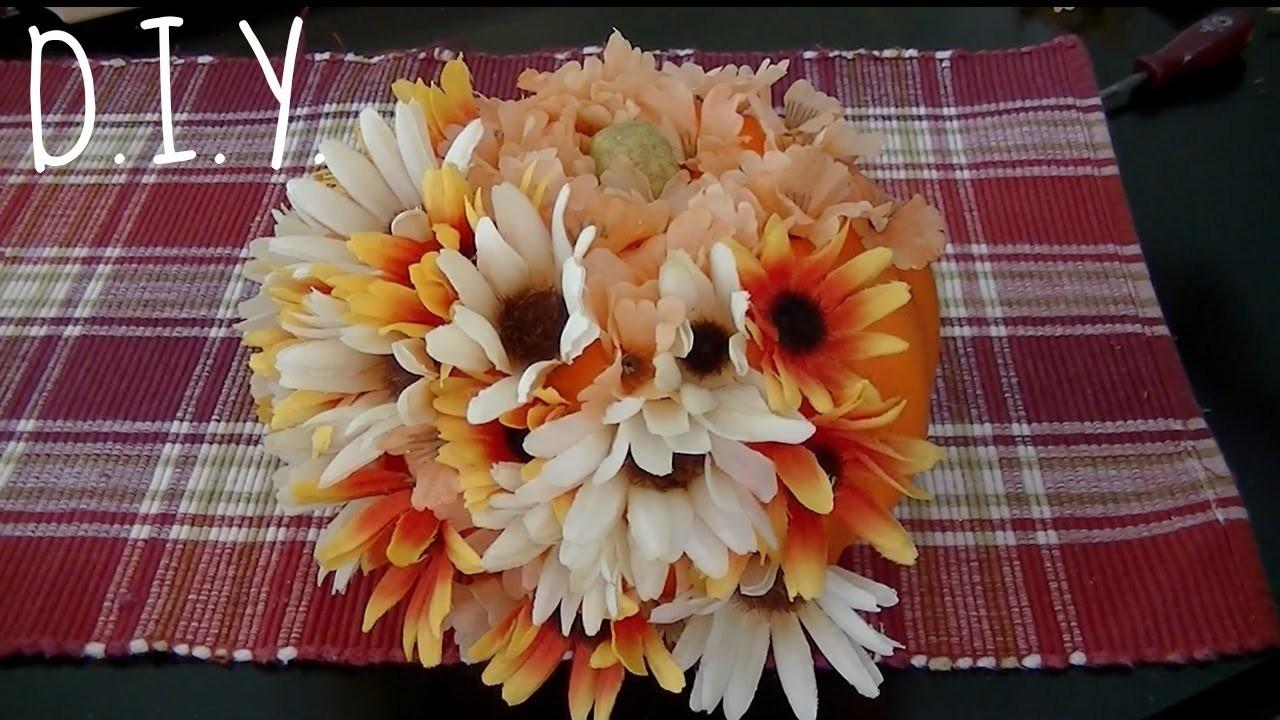 DIY Floral Pumpkin Decor {Cheap, Easy, & Cute!}