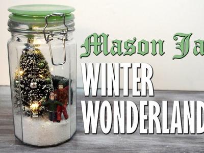 DIY Mason Jar Winter Wonderland Snowglobe Scene | homemade Christmas decorations & holiday crafts