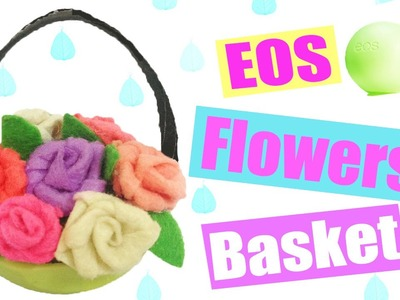DIY Miniature Flower Basket from EOS Lip Balm - Dollhouse DIY