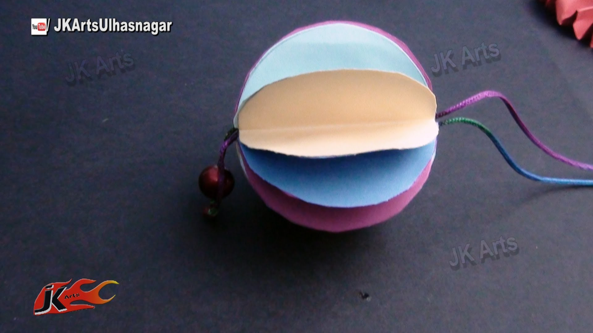 DIY Paper Ball Christmas Ornament | How to make | JK Arts 818