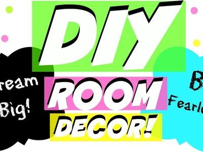DIY ROOM DECOR! TUMBLR INSPIRED