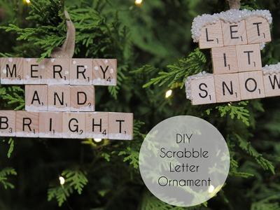 DIY Scrabble Letter Ornament