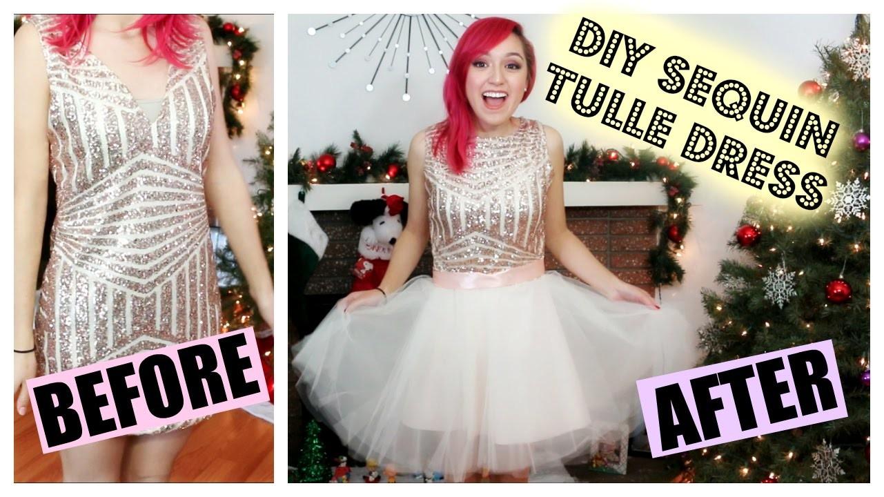 DIY Sequin Tulle Dress Transformation | CraftyAmy