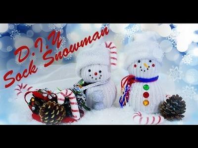 DIY Sock Snowman (Christmas Decor.Gift Idea)