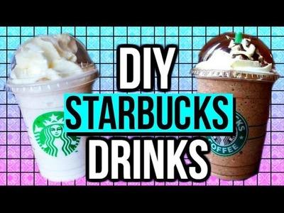 DIY Starbucks Drinks: Double Chocolaty Chip + Vanilla Bean Frappuccino | CartneyBreanne