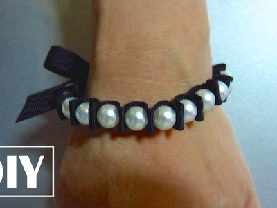 DIY Stretchy Pearl Bracelet