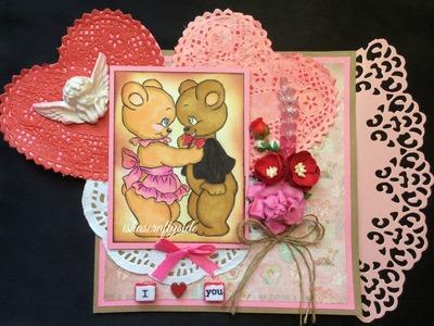 DIY  Valentine's Card. Anniversary Card for Husband, Boy Friend