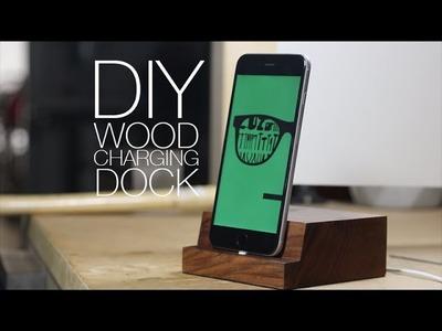 ⇒ DIY Wooden iPhone Charging Dock