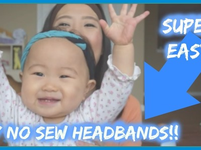 EASY DIY NO SEW HEADBANDS IN UNDER 5 MINUTES! |  AllthingsbyKang