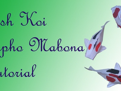 Fish Koi Origami - Sipho Mabona - Tutorial