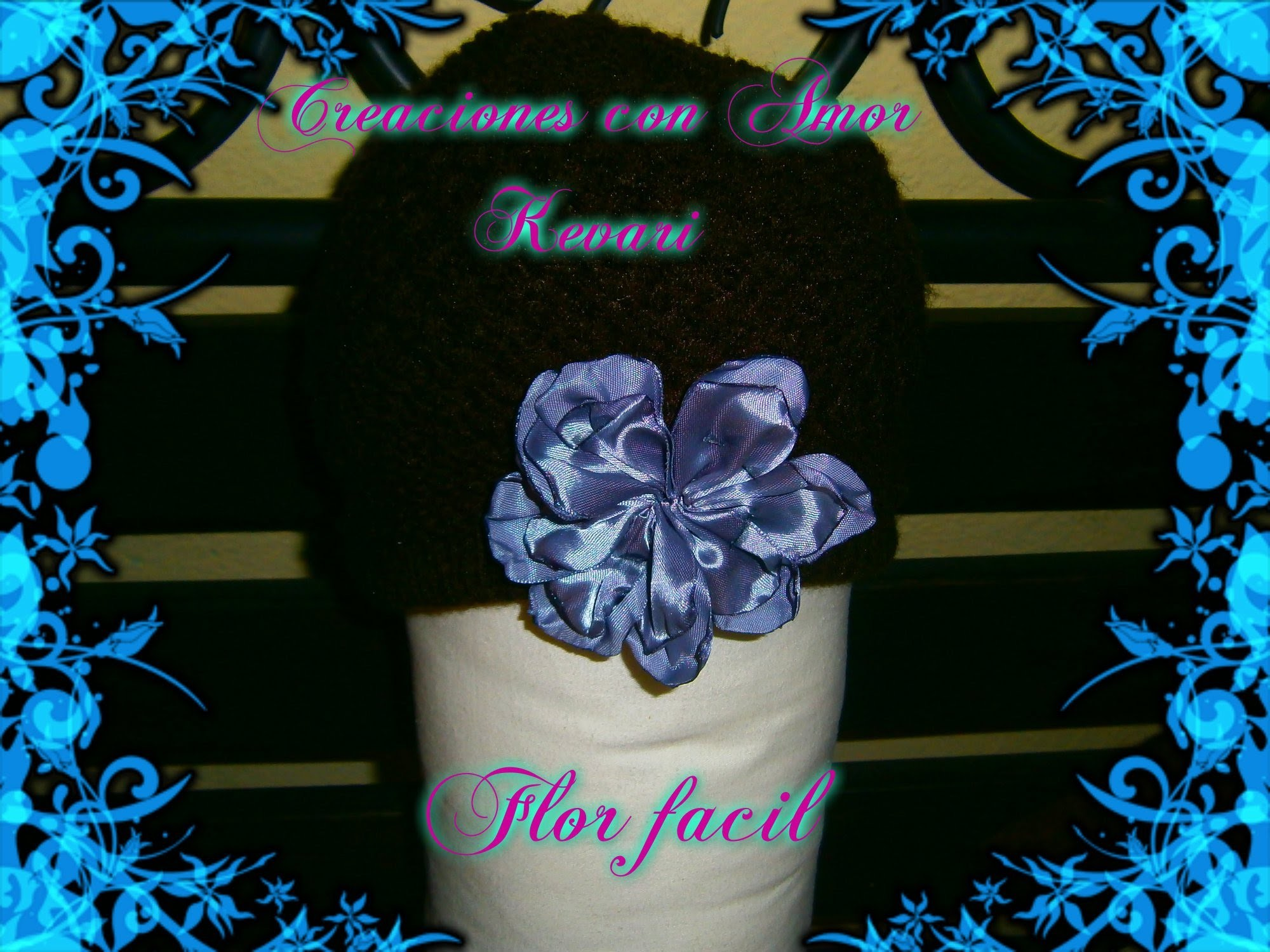 Flor fácil de cinta.♥ Easy Ribbon Flower