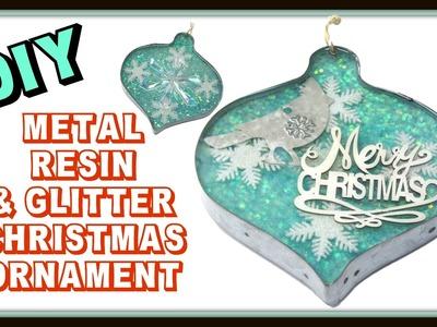 Glitter, Resin & Metal Christmas Ornament DIY ~ Craft Klatch Christmas Series